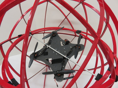 Custom quadcopter with 3-axis protective gimbal